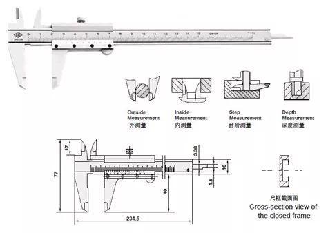 各种游标卡尺的测量与使用